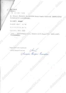 справка о несудимости китай 3 перевод