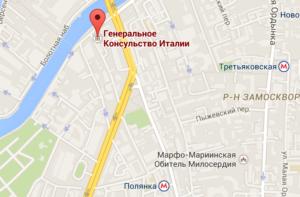 konsulstvo italii moskva karta