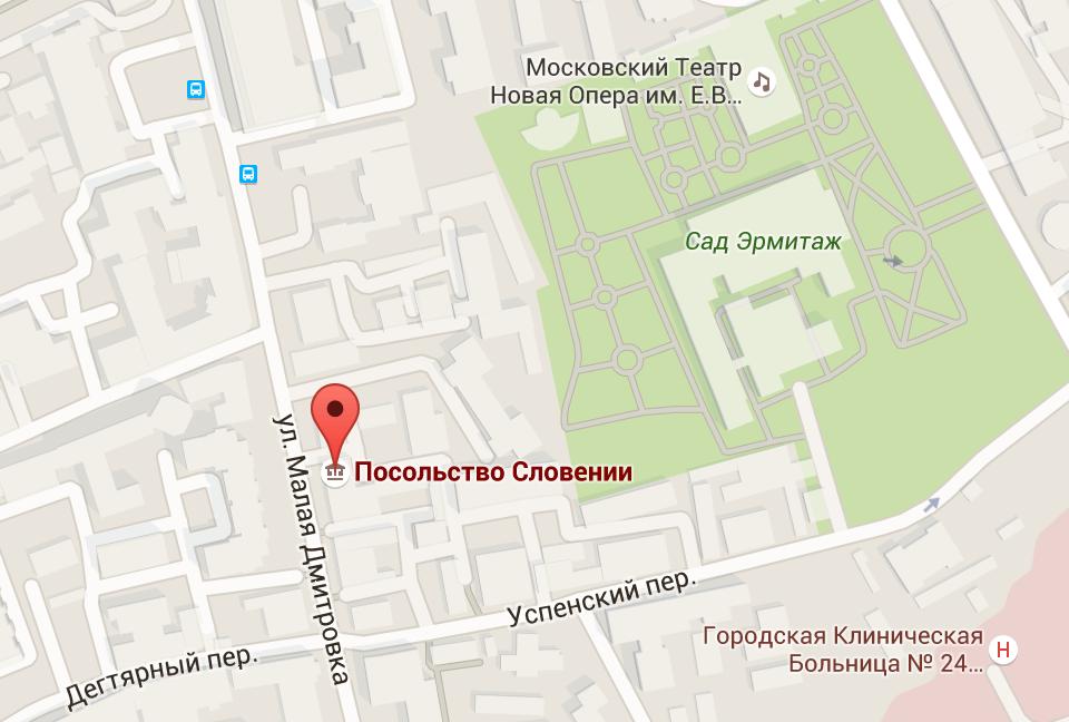 Посольство Словении карта