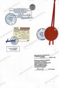 konsulskaya legalizatsiya posolstvo katara