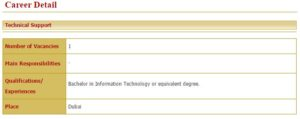требования для работы в госслужбе в ОАЭ