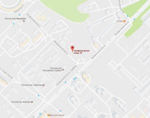 посольство Ливии на карте