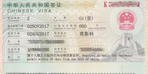 Виза Z в Китай