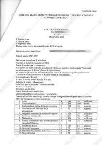 Dichiarazione di valore на академическую справку