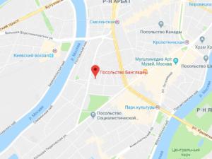 посольство бангладеш в россии на карте