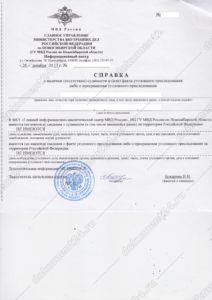 Справка о несудимости для Чехии оригинал