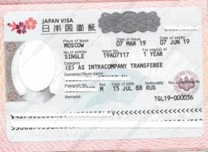 Рабочая виза Япония