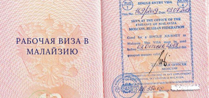 Рабочая виза в Малайзию