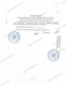 notarialnaya kopiya zaklyucheniya iemen